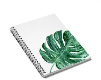 Palm Leaf Notebook, tropical leaf notebook, tropical notebook, leaf notebook, palm leaf journal, botanical notebook, monstera notebook