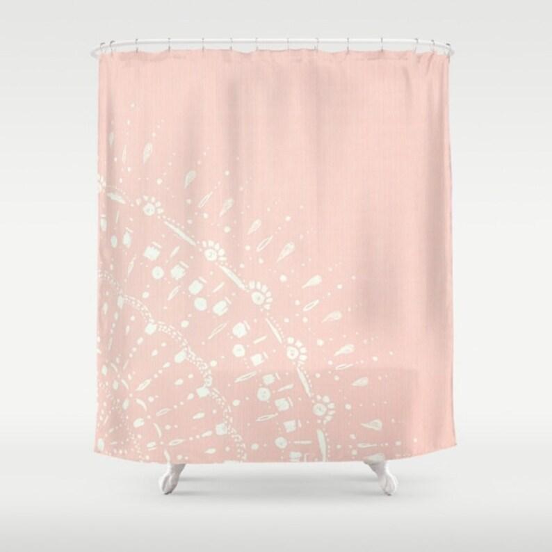 Blush Pink Shower Curtain
