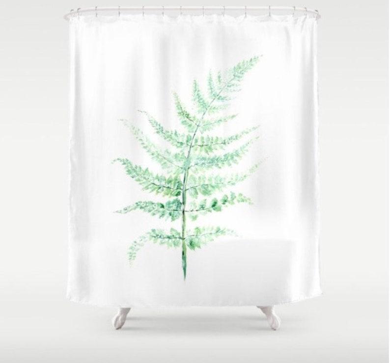 Fern Shower Curtain Botanical Art
