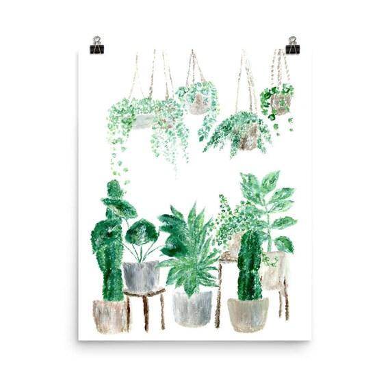 Pflanze Pflanze Wandkunst hängende Pflanzen indoor-Garten | Etsy