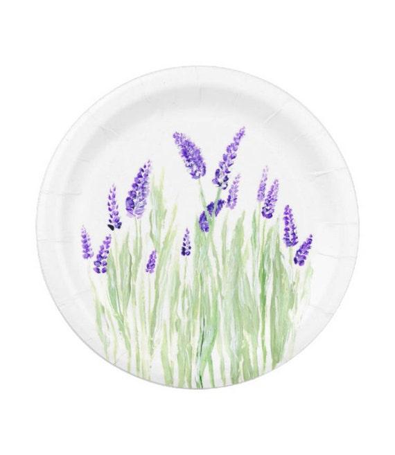 sc 1 st  Etsy & Lavender Paper Plates flower paper plates lavender party