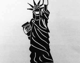 Lady Liberty lino