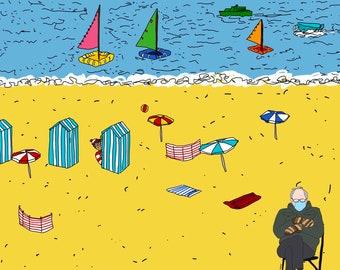 Bernie and Waldo at the Beach