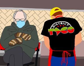 Bernie at District Taco