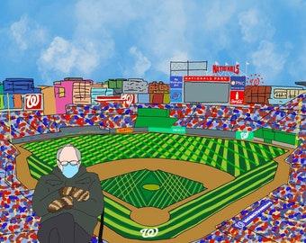 Bernie at the Nationals Stadium