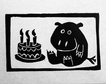 Birthday Hippo