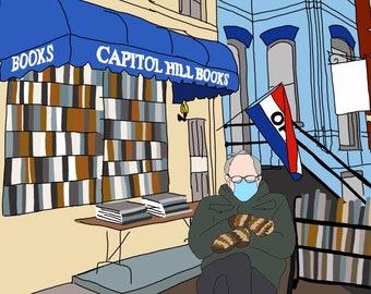 Bernie at Capitol Hill Books