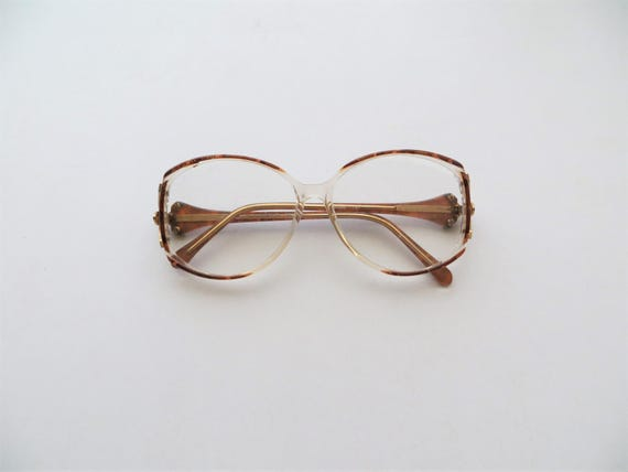 Items similar to 80s Hakim Exclusive Glasses Retro Abstract Brown ...