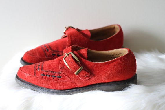 70s Dr. Martens Brogues Red Suede