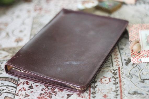 d7bcf5213 Vintage J & M Davidson Portfolio Zipper Case Leather Agenda | Etsy