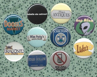 Gilmore Girls- inspired 1-inch button pack