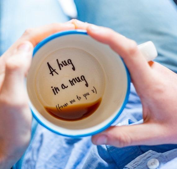 Hug In A Mug Hidden Message Cup Isolation Lockdown Gift Etsy