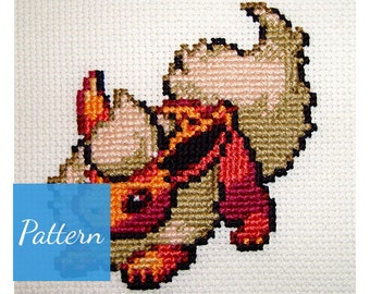 Flareon (Pokemon) Cross Stitch Pattern