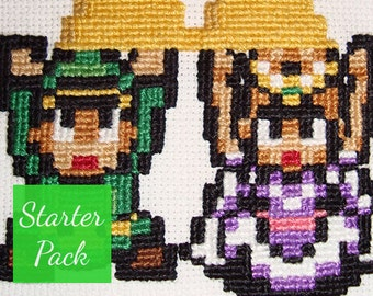 Link & Zelda Cross Stitch Starter Pack