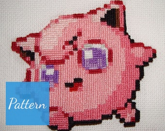 Jigglypuff (Pokemon) Cross Stitch Pattern