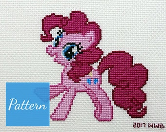 Pinkie Pie (My Little Pony) Cross Stitch Pattern