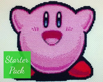Kirby Cross Stitch Starter Pack