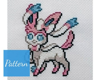 Sylveon (Pokemon) Cross Stitch Pattern