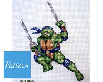 Leonardo (TMNT) Cross Stitch Pattern