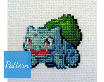 Bulbasaur (Pokemon) Cross Stitch Pattern