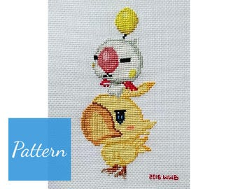 Kweh? Kupo! (Final Fantasy) Cross Stitch Pattern