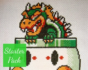 Bowser Cross Stitch Starter Pack