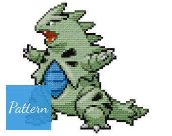 Tyranitar (Pokemon) Cross Stitch Pattern