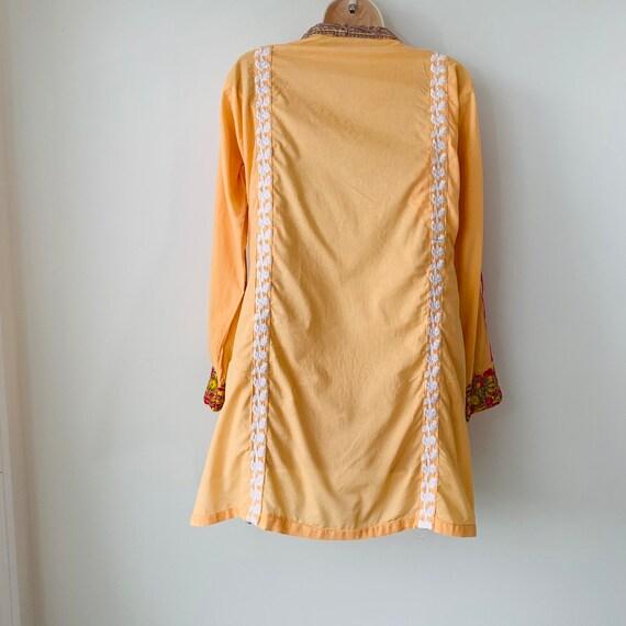 Embroidered tunic India kurta kaftan dress Intric… - image 2