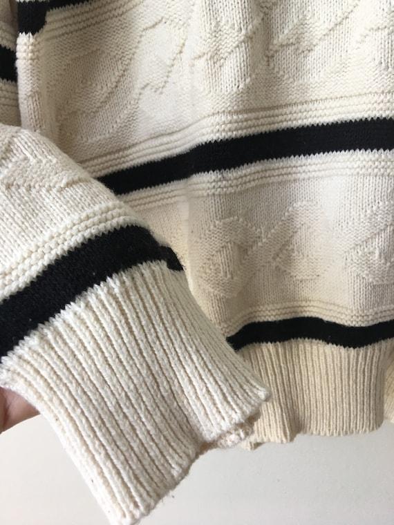 Witte kabel trui | Etsy