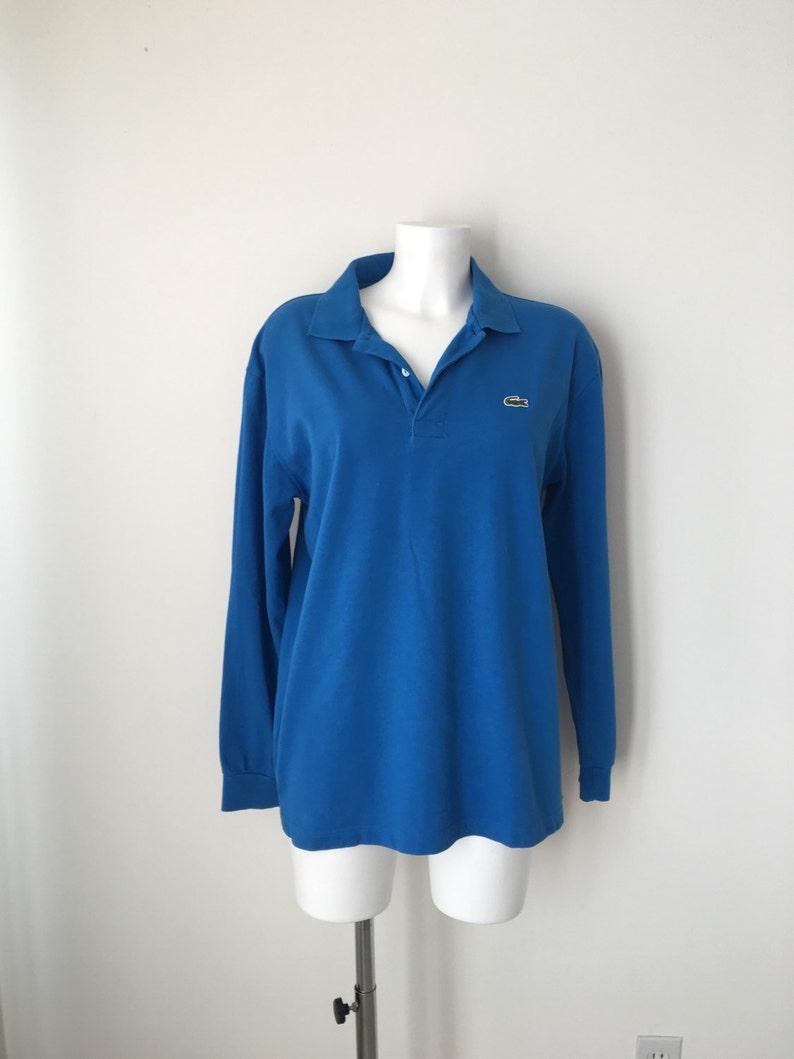 d28d14e5c Lat 90-tych kultowych Koszulka polo LACOSTE długi rękaw Royal   Etsy