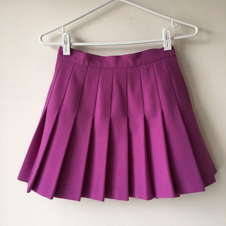 cbb8ba6bce Purple TENNIS skirt Pleated Mini skirt High waisted Womens | Etsy