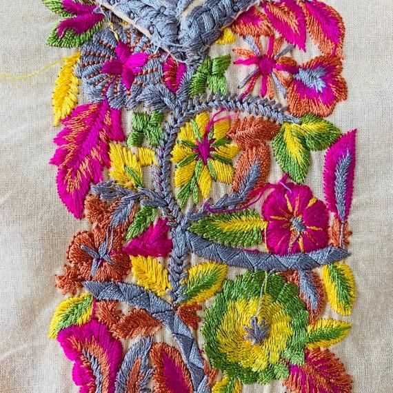 Embroidered tunic India kurta kaftan dress Intric… - image 10