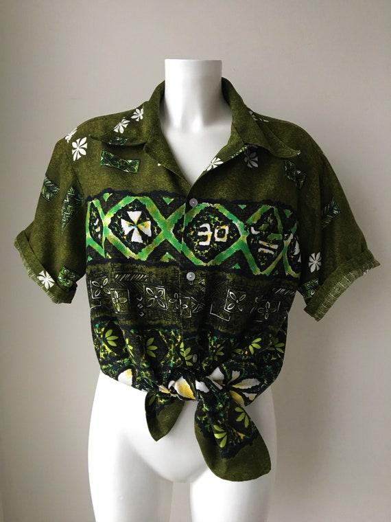 Jahrgang Rindentuch Hawaii-Hemd Herren Batik floral | Etsy