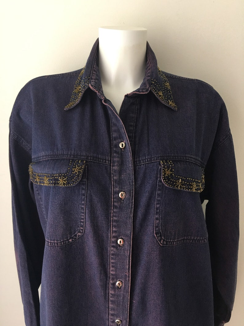 955ee6a127 Blue denim Jean shirt Classic Denim Chambray Shirt Button up