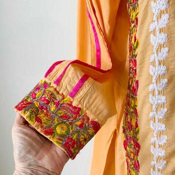 Embroidered tunic India kurta kaftan dress Intric… - image 4