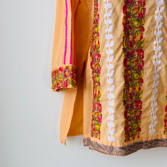 Embroidered tunic India kurta kaftan dress Intric… - image 3