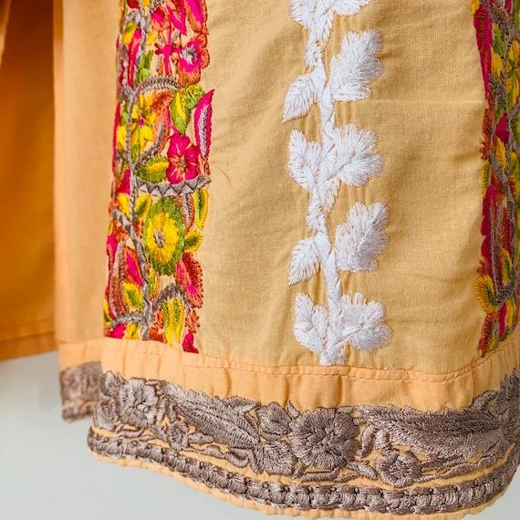 Embroidered tunic India kurta kaftan dress Intric… - image 5