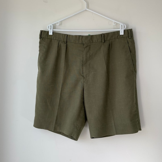 Vintage Islander Linen Shorts Khaki men's Summer H