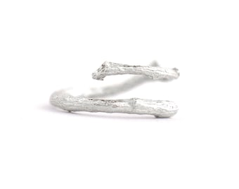 Branch ajustable sterling silver ring