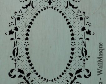 FloralCenterPlain - A nice floral frame center. Excellent for furniture pieces, cabinet insets, or craft projects.