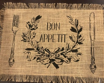 Bon Appetit Placemat Stencil (placemat not included)