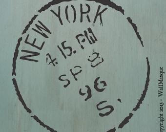 New York Stamp Stencil (8 inch version)