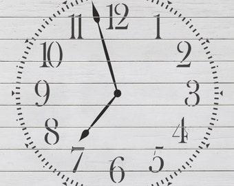 Classic Clock 1 Stencil
