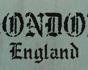 London England Stencil