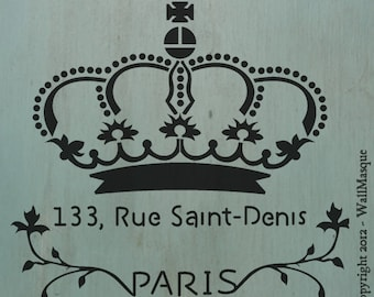"""ParisianCrown -10.3"""" x 9.2"""" - Great for furniture pieces and shabby chic craft projects"""