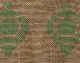 Ornament Border Stencil - Awesome on Burlap Ribbon!