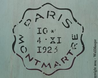 Paris Montmartre Stamp Stencil