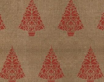 Holly Christmas Tree Stencil - Allover Pattern