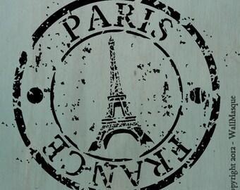 Paris France Stamp Stencil