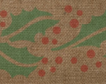 Holly Border Stencil - Awesome on Burlap Ribbon!